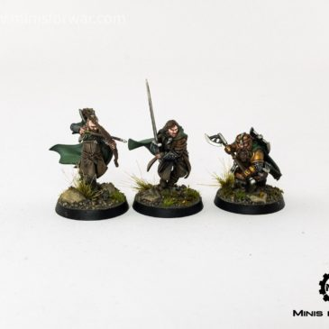 Lord of the Rings/ Hobbit – Three Hunters: Aragorn, Gimli, Legolas