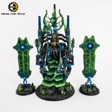 40k – Necron Silent King and his army!